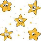 Star - Space,Star Shape,Cartoon,Smiling,Animated Cartoon,Smiley Face,Cute,Winking,Yellow,Humor,Success,Rank,Icon Set,Vector,Characters,Isolated,Emoticon,Winning