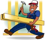Carpenter,Craftsperson,Repairman,Cartoon,Men,Manual Worker,Work Tool,Working,Timber,Hammer,Latin American and Hispanic Ethnicity,Vector,Bib Overalls,Cheerful,Drill,Construction Industry,Happiness,Plank,Smiling,Equipment,Illustrations And Vector Art,Ilustration,People,Construction,Vector Cartoons,Industry