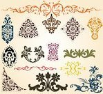 Victorian Style,Baroque Style,Pattern,Ornate,Decoration,Retro Revival,Classic,Old-fashioned,Rococo Style,Vector,Renaissance,Old,Grape,Elegance,Backgrounds,Set,Shape,Nostalgia,Creativity,Decor,Collection,Ilustration,Ancient,Part Of