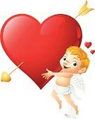 Cupid,Heart Shape,Valentine's Day - Holiday,Angel,Arrow,Cartoon,Love,Vector,Artificial Wing,Child,Happiness,Smiling,Ilustration,Romance,Holidays And Celebrations,Valentine's Day,Illustrations And Vector Art,Copy Space,Holding,Pierced