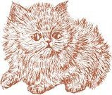 Domestic Cat,Kitten,Cartoon,Sketch,Drawing - Art Product,Animal,Pets,Young Animal,Cub,Baby Animals,Fluffy,Animals And Pets,Shaggy,Domestic Animals,Cats,Mammals,Isolated On White,Mammal,Animal Hair,Small,Ilustration