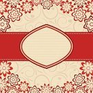Heart Shape,Floral Pattern,Design,Frame,Beige,Curled Up,Abstract,Nature,Nature Backgrounds,Backgrounds,Vector,Ilustration,Nature,Illustrations And Vector Art,Flowers,Vector Florals,hand drawn,Decoration,Pattern,Flower,Red