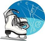 Ice Skate,Ice-skating,Ice,The Human Body,Pair,Winter,Blade,Women,Close-up,Relaxation Exercise,Exercising,Dancing,White,Hobbies,Leisure Activity,Sport,Competition,Ice Dance,Sports And Fitness,Individual Sports,Illustrations And Vector Art,Train,Boot,Activity
