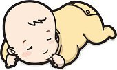 Baby,Sleeping,Cartoon,Ilustration,People,Babies And Children,Lifestyle,White Background,Full Length,Illustrations And Vector Art