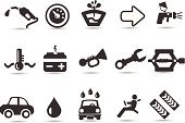 Car,Symbol,Computer Icon,Driver,Icon Set,Mechanic,Car Wash,Auto Repair Shop,Fuel Pump,Driving,Paint,Oil,Gasoline,Fuel and Power Generation,Safety,Repair Shop,Car Jack,Water,Vector,Seat Belt,Spraying,Gauge,Tire Track,Speedometer,Battery,Liquid,Black And White,Ilustration,Wrench,Balance,Car Horn,Vector Icons,Transportation,Illustrations And Vector Art,Arrow Symbol