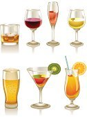 Cocktail,Drink,Glass,Beer - Alcohol,Alcohol,Wine,Whiskey,Vector,Juice,Champagne,Wineglass,Daiquiri,Orange - Fruit,Ice,Set,Freshness,Drinking Straw,Kiwi - Fruit,Brandy,Household Objects/Equipment,Design Element,Drinks,Isolated On White,Food And Drink,Illustrations And Vector Art,Objects/Equipment