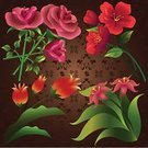Flower,Temperate Flower,Rose - Flower,Pink Color,Bud,Tropical Flower,Nature,Botany,Illustrations And Vector Art,Holiday Symbols,Holidays And Celebrations,Red,Set,Valentine's Day - Holiday,Nature,Flowers,Vector Florals,Rose Petals,Beauty In Nature,Petal,Collection,Tulip