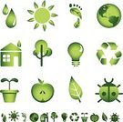 Leaf,Symbol,Green Color,Environment,Computer Icon,Human Foot,Water,Drop,Apple - Fruit,Environmental Conservation,Earth,Energy,Nature,Seedling,Sun,House,Carbon Footprint,Recycling,Globe - Man Made Object,Recycling Symbol,Light Bulb,Tree,Isolated,Vector,Plant,Ladybug,Flower Pot,Concepts,Design,Planet - Space,Ilustration,Alternative Energy,Vector Icons,Nature Symbols/Metaphors,Nature,Illustrations And Vector Art