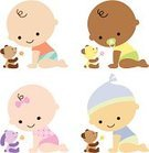 Baby,Cartoon,Baby Girls,Vector,Little Girls,Diaper,Little Boys,Cute,Baby Boys,Newborn,Family,Child,Teddy Bear,African Descent,Toddler,Cheerful,New Life,Toy,15-18 Months,Hair Bow,Ilustration,Rabbit - Animal,Stuffed Toy,Pastel Colored,Hat,Bow,Pacifier,Pink Color,Smiling,Illustrations And Vector Art,Babies And Children,Lifestyle,Vector Cartoons