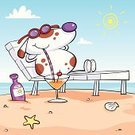Dog,Beach,Cartoon,Sun,Relaxation,Animal,Sunglasses,Vacations,Cute,Pets,Drinking,Drink,Friendship,Cocktail,Sea,Animal Themes,Sunbathing,Alcohol,Cheerful,Spotted,Clip Art,Happiness,Lounge Chair,Caricature,Drinking Straw,Funky,Cloud - Sky,Sand,Serene People,Sky,White,Dogs,Holidays And Celebrations,Animals And Pets,Blue,Animal Shell,Tinted Sunglasses,Canine,Sketch,Smiling,Ilustration,Vector,Characters,Suntan Lotion