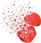 Confetti,Heart Shape,Box - Container,Gift,Exploding,Open,Red,Valentine's Day - Holiday,Pink Color,Surprise,Holidays And Celebrations,Valentine's Day,Illustrations And Vector Art,Romance,Vector,Love