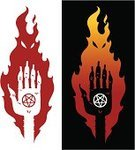 Human Hand,Fire - Natural Phenomenon,Evil,Claw,Witch,Monster,Devil,Horror,Demon,Spooky,Fear,Holidays And Celebrations,Vector Cartoons,Halloween,Illustrations And Vector Art,Witchcraft,Halloween