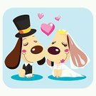 Wedding,Dog,Cartoon,Bridegroom,Bride,Married,Love,Couple,Vector,Heart Shape,Smiley Face,Engagement,Tuxedo,Ilustration,Event,Tie,Cute,Dating,Top Hat,Wedding Dress,Necklace,Cheerful,Husband,Animals And Pets,Smiling,Holidays And Celebrations,Wedding Ceremony,Weddings,Wife,Unity,Ceremony,Dogs,Celebration,Crown,Happiness,Illustrations And Vector Art,Romance