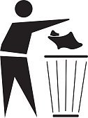 Garbage,Garbage Can,Symbol,Can,Garbage Dump,Bin/tub,Computer Icon,Vector,Recycling,Silhouette,Landfill,One Person,Men,Basket,The Human Body,Environment,Concepts,Sign,Black Color,reuse,White Background,Design,Ilustration,Clip Art,Black And White,Design Element,Male,Illustration Technique,Beginnings,Vertical,Ideas,Pattern,Digitally Generated Image,Isolated On White,creative element,graphic element,Isolated,Creativity,Computer Graphic