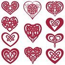 Celtic Culture,Heart Shape,Tied Knot,Love,Woven,Vector,Valentine's Day - Holiday,Valentine Card,Intertwined,Icon Set,Red,Ilustration,Intricacy,Symmetry,Magenta,Valentine's Day,Vector Icons,Holidays And Celebrations,Pink Color,Celtic Knot,Illustrations And Vector Art,Arts And Entertainment