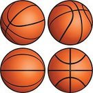 Basketball,Basketball - Sport,Ball,Vector,Symbol,Computer Icon,Sphere,Cartoon,Isolated,Ilustration,Set,Orange Color,Sports Symbols/Metaphors,Sports And Fitness,Team Sports