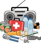 Survival,First Aid Kit,Flashlight,Battery,Drinking Water,Duct Tape,Radio,Whistle,Canned Food,Water Bottle,Medicine,Toothbrush,Can Opener,Objects/Equipment,Household Objects/Equipment,Illustrations And Vector Art,Vector,Pill,Ilustration,Prescription Medicine