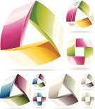Triangle,Connection,Three Objects,Square Shape,Symbol,Futuristic,Abstract,Concepts,Overlapping,Intertwined,Mobius Strip,Digitally Generated Image,Vector,Color Image,Repetition,Perpetual Motion,White Background