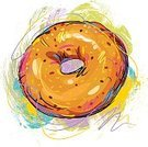 Bagel,Food,Snack,Refreshment,Ilustration,Breakfast,Art,Vector,Healthy Eating,Colors,Sketch,Drawing - Art Product,Freshness,Paintings,Painted Image,hand drawn,Creativity,Painterly Effect,Vector Backgrounds,Paint,Junk Food/Fast Food,Grunge,Design Element,Brush Stroke,Food And Drink,Food Backgrounds,Illustrations And Vector Art,Square,Composition