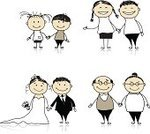 Wedding,Married,Family,Child,Drawing - Art Product,Bride,Grandparent,Vector,Offspring,Grandmother,Parent,Grandfather,Pencil Drawing,Ilustration,Sketch,Family with Two Children,Grandchild,Daughter,Smiling,Wife,Multi-generation Family,Husband,Togetherness,Young Adult,Son,Vector Cartoons,Families,Illustrations And Vector Art,Lifestyle,Relationships