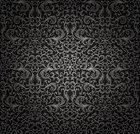 Black Color,Gray,Seamless,Abstract,Swirl,Pattern,Retro Revival,Old-fashioned,Backgrounds,Textured,Plant,Decoration,Design,Vector Backgrounds,Vector Ornaments,Illustrations And Vector Art,Vector Florals,Ilustration,1940-1980 Retro-Styled Imagery,Vector,Floral Pattern,Ornate