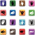 Human Hand,Symbol,Thumb,Human Finger,Sign,Palm,Fist,Vector,Pointing,Icon Set,Cartoon,Colors,Illustrations And Vector Art,People,Vector Icons,Reflection,Gesturing,Ilustration,Peace Sign,Obscene Gesture,Hand Sign