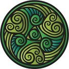 Circle,Tattoo,Symbol,Decoration,Ilustration,Floral Pattern,Arts And Entertainment,Arts Abstract,Vector Florals,Illustrations And Vector Art,Vector Ornaments,Ornate,Vector,Green Color,Image,Decor