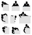 Advertisement,Silhouette,Business,Leaning,Businessman,Suit,Outline,Men,Business Person,Communication,Holding,Pointing,Black Color,Behind,Showing,Formalwear,Ilustration,Male,White Background,Message,Vector Graphics,Digitally Generated Image,Front View,Isolated,Clip Art,Computer Graphic,Multiple Image,Isolated On White,Black And White,Copy Space,Gesturing,Vector,Standing,Placard