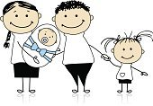 Family,Baby,Drawing - Art Product,Child,Cartoon,Parent,Offspring,Newborn,Vector,Ilustration,Family with Two Children,Human Hand,Babies And Children,Vector Cartoons,Families,Illustrations And Vector Art,Son,Daughter,Lifestyle