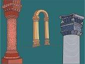 Greek Culture,Architectural Column,Arch,Drawing - Art Product,Old Ruin,Roman,Antiquities,Capital,Corinthian,Vector,Ancient,Ionic,Marble,The Past,Architectural Feature,Architecture,Classical Style,Monuments,Architecture And Buildings,ornated,Illustrations And Vector Art,Built Structure,Architectural Detail,Vector Ornaments,Decoration,Ilustration,Stone Material,Doric,Classical Greek
