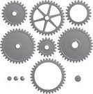 Gear,Bicycle Gear,Machine Part,Vector,Equipment,Industry,Technology,Ilustration,Metal,Isolated,Steel,Set,Part Of,Turning,Metallic,Design,White,Group of Objects,Solid,Machine Teeth,Isolated On White,No People,gearings,Business,Medium Group of Objects,Isolated Objects,Illustrations And Vector Art,Business Concepts