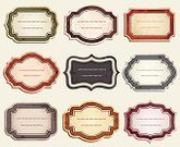 Label,Retro Revival,Book,Frame,Design Element,Computer Graphic,Textured,Vector,Grunge,Ilustration,Rosé,Set,Yellow,Purple,Brown,Red,Dark,Blue,Isolated,Green Color,Beige,Isolated Objects,Illustrations And Vector Art,Arts And Entertainment,Arts Backgrounds,Objects with Clipping Paths,Brushed,Vector Icons,Stained,Multi Colored