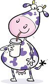 Cow,Milk,Cartoon,Animal,Milkshake,Humor,Drinking,Purple,Happiness,Cheerful,Dairy Product,Drink,Calf,Ilustration,Fun,Characters,Smiling,Confidence,Dairy Cattle,Thirsty,Mammal,Bull - Animal,Drinking Straw,Joy,Animals And Pets,Farm Animals,Domestic Cattle,Funky,Spotted,Food And Drink,Drinks,Clip Art,Vector,Isolated On White,Horned,Hoofed Mammal,One Animal,Non-alcoholic Beverage,Enjoyment
