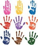 Human Hand,Handprint,Print,Childhood,Track,Fingerprint,Stop,Symbol,Sign,Silhouette,Finger Painting,Multi Colored,Backgrounds,Dirty,Ink,Unhygienic,Stop Gesture,Warning Symbol,Sketch,Abstract,Set,Stained,Messy,Collection,Grunge