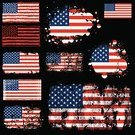 Flag,Dirty,American Flag,Grunge,USA,Vector,Damaged,Patriotism,Design,Textured,Textured Effect,Ilustration,Red,White,Striped,Digitally Generated Image,Blue,Colors,Black Background,National Flag,US Memorial Day,Fourth of July,No People,Color Image,Thanksgiving,Star Shape