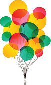 Balloon,Vector,Transparent,Celebration,Multi Colored,Vector Backgrounds,Ilustration,Illustrations And Vector Art