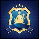 Lawyer,Justice,Justice - Concept,Shield,Law,Legal System,Shielding,Sign,Badge,Weapon,Court,Symbol,Coat Of Arms,Weight Scale,Gold Colored,Blue,Gold,Arm,Sword,Backgrounds,Femida,Star - Space,Vector,Ribbon,Award Ribbon,Insignia,Frame,Silhouette,Star Shape,Frame,Statue,Female,Copy Space,Ilustration,Chrome,Metallic,Concepts And Ideas,Medieval,Illustrations And Vector Art,Dress,template,Shape,Decoration,Back Lit