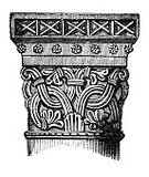 Capital,Architectural Column,Drawing - Art Product,Ilustration,Antique,Architecture,Architecture And Buildings,Architectural Detail,Architecture Backgrounds,Design,Norman Style,Engraved Image,Pattern,Macro