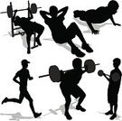 Exercising,Sport,Silhouette,Sit-ups,Crouching,Push-ups,Sports Training,Weight Bench,Running,Jogging,Healthy Lifestyle,Vector,Male,Athlete,The Human Body,Set,Isolated,One Person,Recreational Pursuit,Clip Art,Black Color,Illustrations And Vector Art,Cut Out,Adult,Fitness,Curled Up,Activity,Ilustration,Action,Isolated On White,People,Physical Activity,Sports And Fitness,Unrecognizable Person