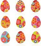 Easter,Easter Egg,Decoration,Holiday,Vector,Pattern,Springtime,Art,Ilustration,Color Image,Painted Image,Vibrant Color,Holidays And Celebrations,Cute,Holiday Symbols,Illustrations And Vector Art,Easter,Vector Ornaments,Paint,Design,Season,Multi Colored