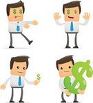 Symbol,Finance,Selling,Currency,Fun,Humor,Creativity,Tie,People,Intelligence,Sign,Men,Business,Cheerful,Businessman,Lawyer,Simplicity,Manager,Manga Style,Cute,Adult,Illustrations And Vector Art,Business,Vector Cartoons,Business People,Standing,Vector,Caucasian Ethnicity,Caricature,Computer Graphic