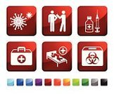 Illness,Vaccination,Computer Icon,Healthcare And Medicine,Icon Set,Virus,Nurse,Sleeping,Surgical Needle,Sparse,Medicine,Healthy Lifestyle,Vector,Red,First Aid Kit,Doctor,Syringe,Green Color,Ilustration,Label,Design,Square Shape,Injecting,Blue,Danger,Antibiotic,Cross Shape,Empty,First Aid,White Background,Black Color