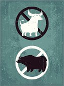 Bull - Animal,Bear,Cow,Bull Market,Sign,No,Stock Market,Ox,Brown Bear,Bear Market,Animal,Vector,Symbol,Cartoon,Design,Warning Sign,Forbidden,Concepts,Clip Art,Advice,Ilustration,Characters,Concepts And Ideas,Illustrations And Vector Art,Design Element,Grunge,Animals And Pets,Digitally Generated Image