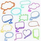 Pencil,Speech Bubble,Graph Paper,Paper,Doodle,Symbol,Backgrounds,Discussion,Scribble,Seamless,Abstract,Design,Sketch,Communication,Three-dimensional Shape,Love,Message,Collection,Shape,Heart Shape,Green Color,Design Element,Single Object,Hand-drawn,Drawing - Art Product,Style,Vector,Isolated Objects,Vector Cartoons,Ilustration,Orange Color,Blue,Illustrations And Vector Art,Isolated,Multi Colored,Copy Space,Animated Cartoon,Set,Pink Color,Computer Graphic