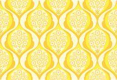 Wallpaper,Retro Revival,Flower,Yellow,Pattern,Wallpaper Pattern,Single Flower,Seamless,Backgrounds,Vector,Orange Color,Decoration,Computer Graphic,Digitally Generated Image,Vector Ornaments,Illustrations And Vector Art