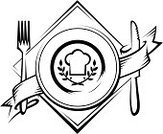 Restaurant,Sign,Plate,Fork,Food,Symbol,Table Knife,Eating,Banner,Black And White,Hat,Vector,Ilustration,Vector Icons,Kitchen Equipment,Cooking,Food And Drink,Abstract,Illustrations And Vector Art