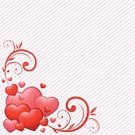 Illustrations And Vector Art,Holidays And Celebrations,Valentine's Day,Valentine's Day,Decoration,Heart Shape,Romance,Love,Floral Pattern