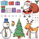 Christmas,Reindeer,Santa Claus,Cartoon,Humor,Characters,Clip Art,Christmas Tree,Rudolph The Red-nosed Reindeer,Group of Objects,Robin,Flying,Computer Graphic,Set,Cheerful,Vector,Tinsel,Isolated On White,Bird,Fun,Sitting,Snow,Celebration,Smiling,Christmas,Snowflake,Standing,Holly,Christmas Present,Holiday Symbols,Holidays And Celebrations,Holiday,Holding,Christmas Ornament,Series,Happiness,Santa Hat,Multi Colored,Gift,Ilustration,Collection