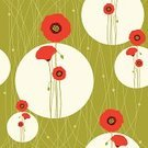 Poppy,Flower,Red,Seamless,Green Color,Abstract,Backgrounds,Corn Poppy,Pattern,Floral Pattern,Swirl,Multi Colored,Sketch,Circle,White,Computer Graphic,Vector,Wallpaper Pattern,Style,Shape,Ilustration,Image