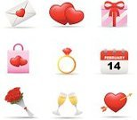 Ring,Diamond Ring,Heart Shape,Envelope,Love,Rose - Flower,Champagne Flute,Romance,Day of the Week,Valentine's Day,Dozen Roses,Gift,Solitaire,Holidays And Celebrations,Vector Icons,Illustrations And Vector Art,Valentine's Day,Bag,Calendar